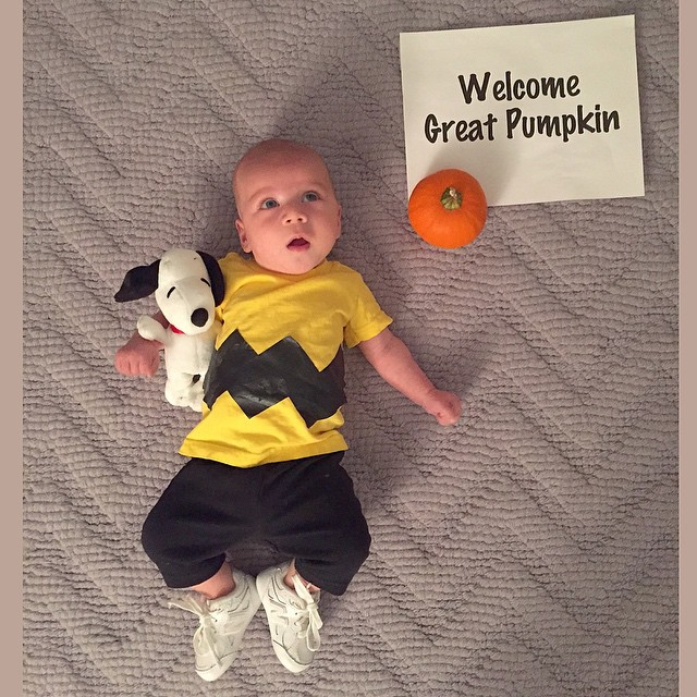 mom counts down to halloween by dressing her baby in a new costume every day