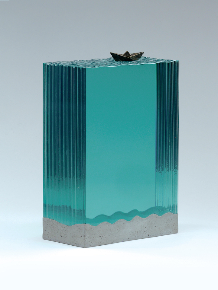 New Ocean Inspired Hand Cut Layered Glass Sculptures By