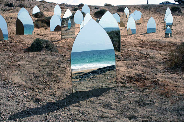 Stunning Landscapes Reflect Off Tombstone Shaped Mirrors