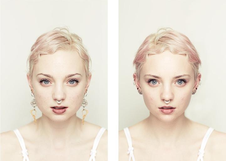 Photographer Explores Beauty Through Facial Symmetry
