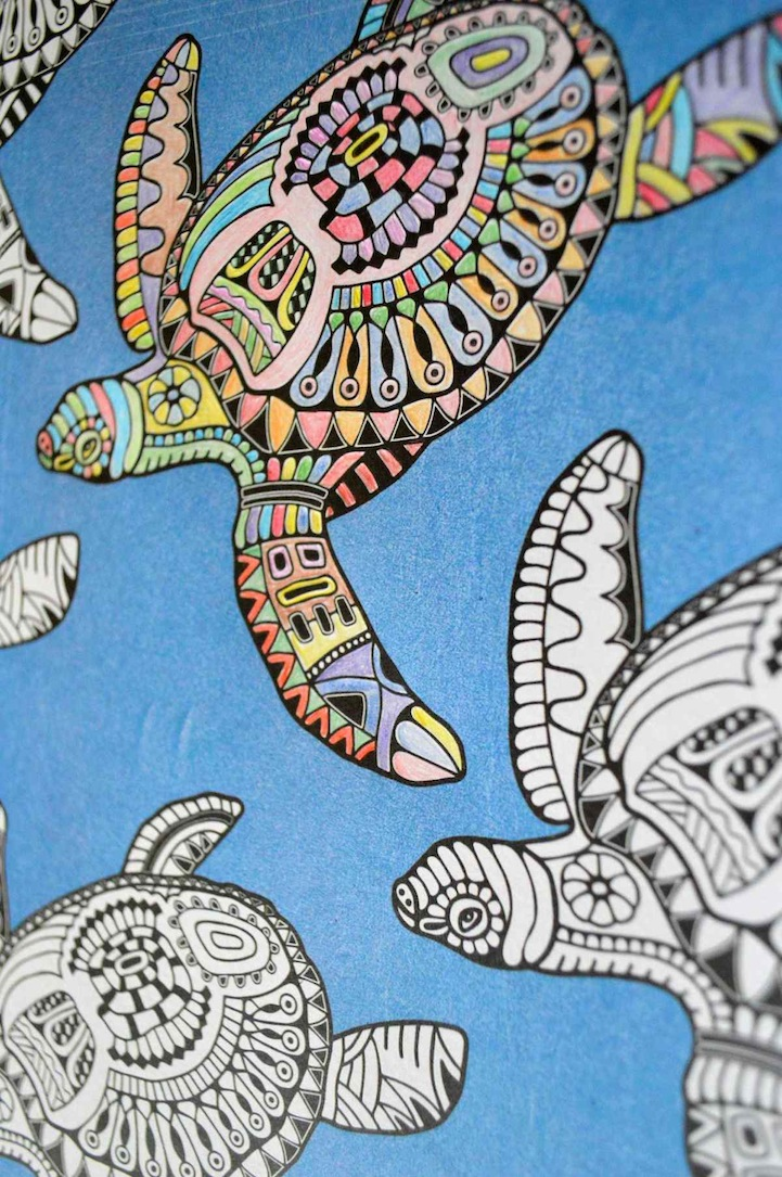 Anti Stress Coloring Book Offers Fun Creative Therapy For Adults