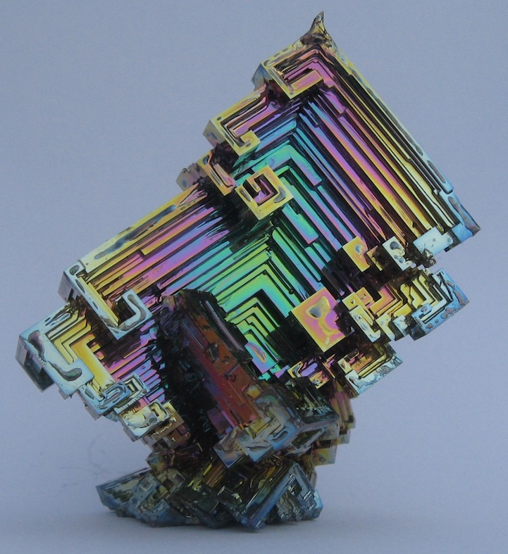 dazzling bismuth crystals look like hypnotizing rainbow stairs. Black Bedroom Furniture Sets. Home Design Ideas