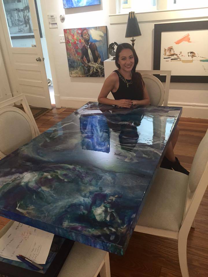 Mesmerizing Acrylic And Resin Swirl Table Brings The