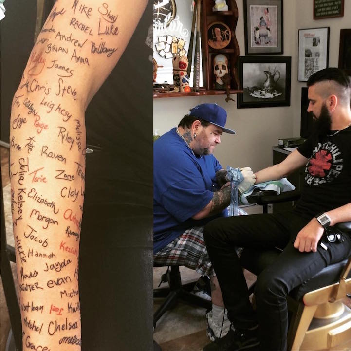 Musician Who Receives Suicide Survivor Notes From Fans Tattoos Their Names On His Arm