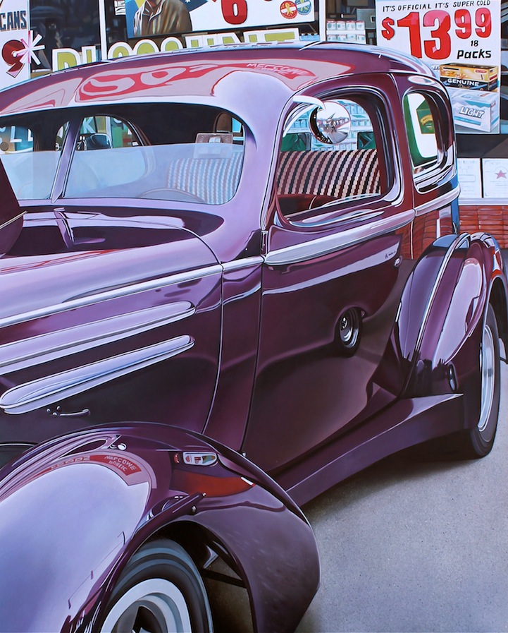 Vintage Cars Glimmer with Stunning Reflections in Hyper-Realistic ...