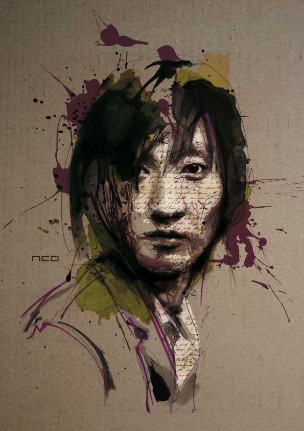 How To Paint Oil Pastel Portrait Without Pencil Lines