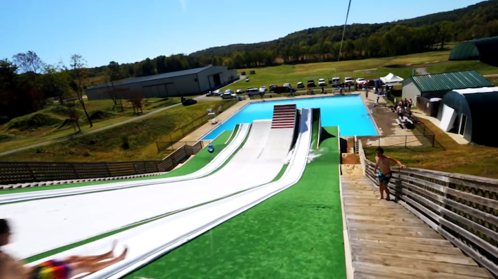 Gigantic ohio dreams is a terrifyingly fun slip and fly for Extreme pool show