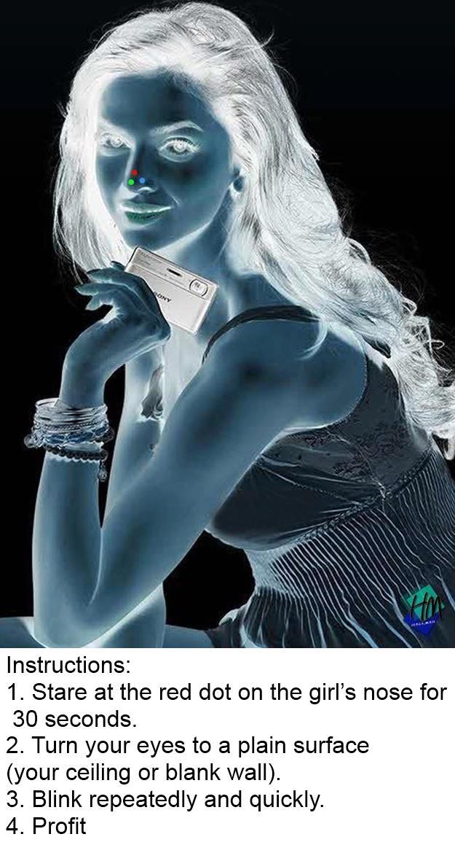 pretty optical illusion girl