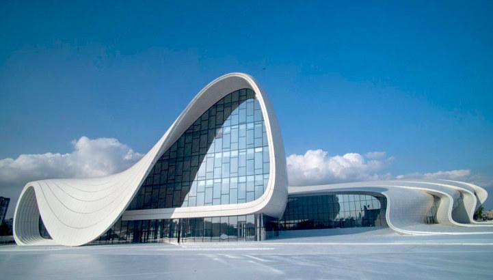 Modern Architecture Zaha Hadid zaha hadid's fluid new cultural center for azerbaijan
