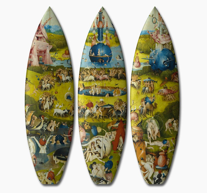 Classical Surfboard Designs Inspired By 15th Century European Artwork