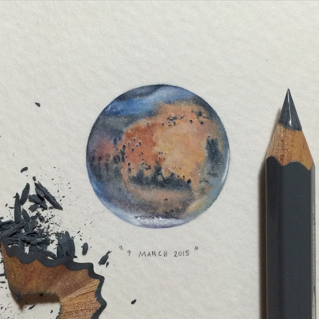Miniature Watercolor Paintings Of Space By Lorraine Loots