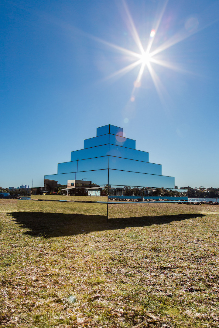 Mirrored Ziggurat Connects The Earth And Sky Through