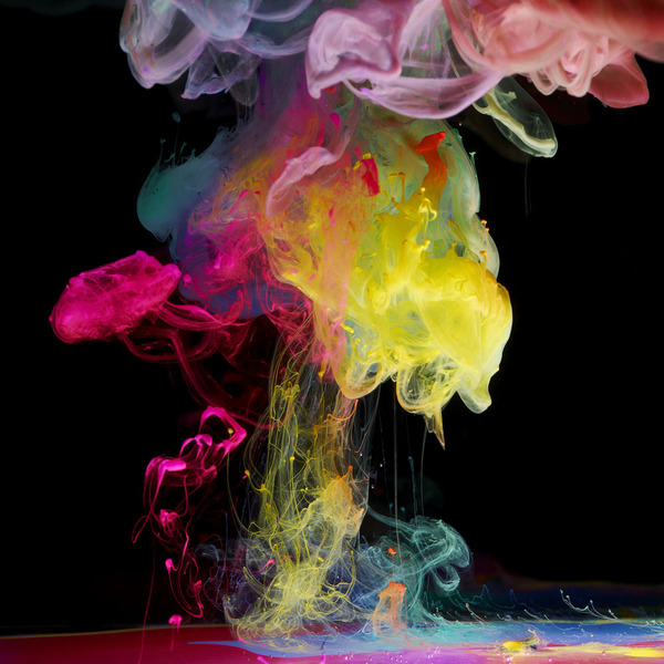 ink and water color explosion