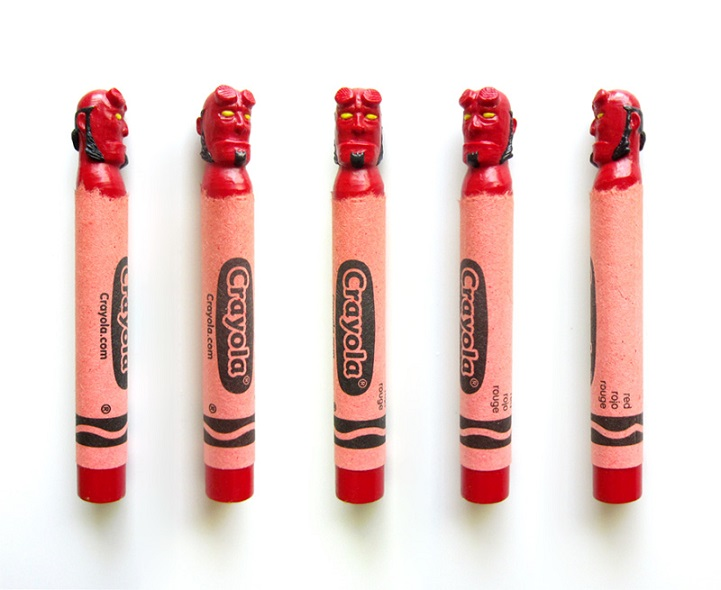 Pop Culture Icons Impressively Carved into Crayola Crayons