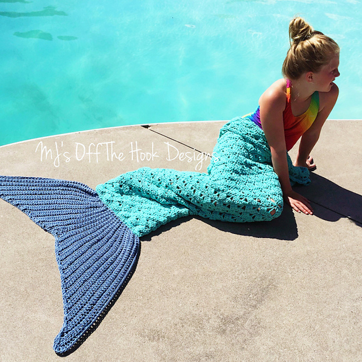 Crocheted Tail Towels Transform Beach Goers Into Mermaids