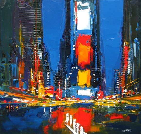 Multi Textured Paintings Of New York