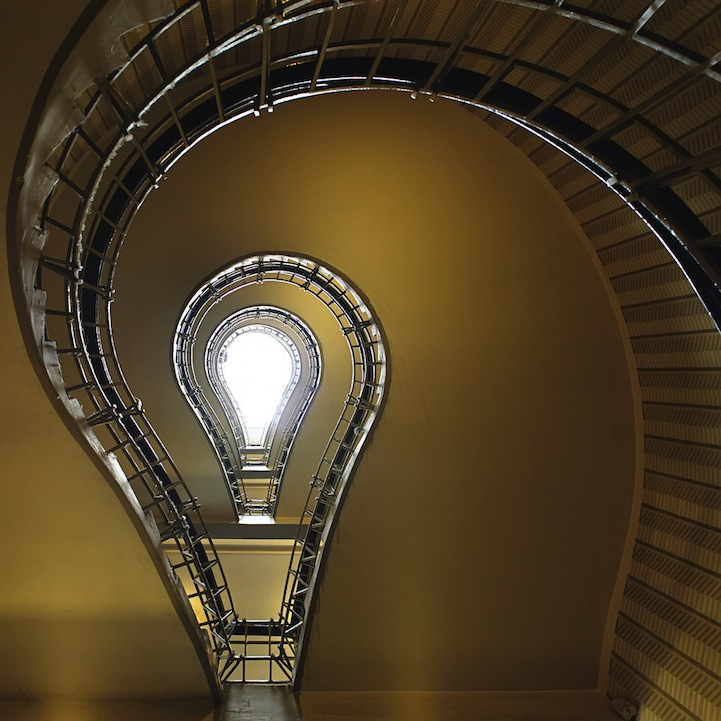mesmerizing photos of unique spiraling staircases