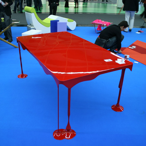 By Far One Of The Coolest Tables I Have Ever Seen Is Designed By John  Nouanesing. Called U201cPaint Or Die, But Love Meu201d This Table Has That Wet,  Glossy Paint ...