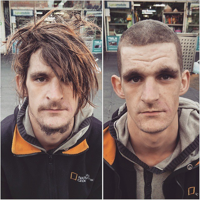 Barber Spends His Days Off Giving Free Haircuts And A Boost Of