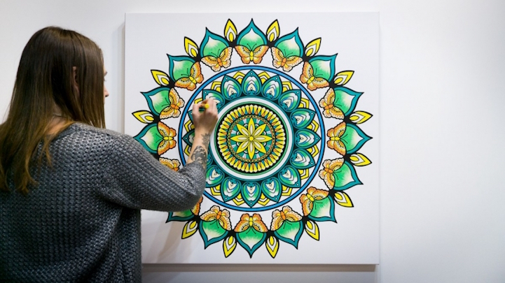 Canvas Illustrations Let Adults Color in Their Own Wall Art