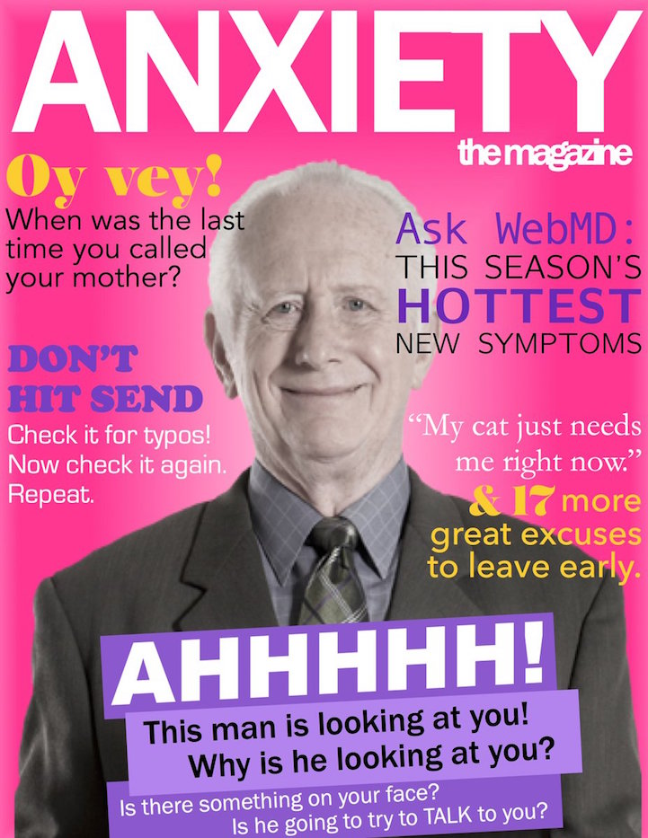 "Designer Creates Satirical ""Anxiety"" Magazine Covers to ..."