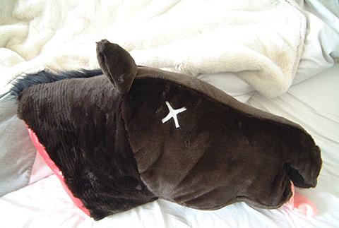 Godfather Horsehead Pillow 2 Pics