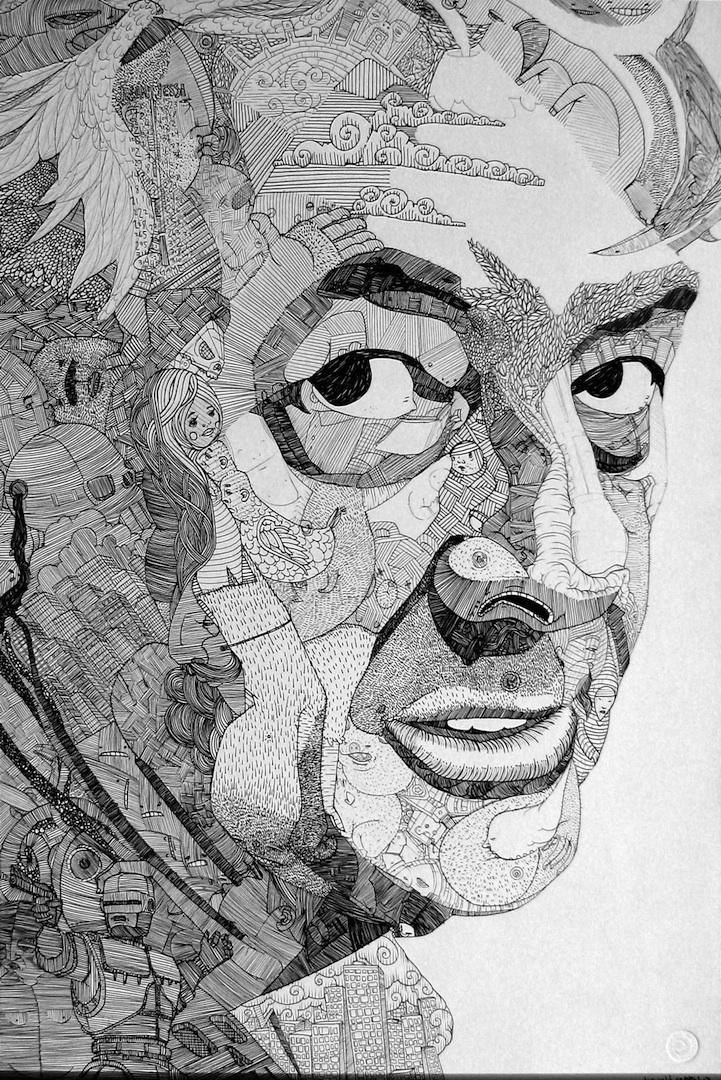 Incredible Doodle Portraits - photo#26
