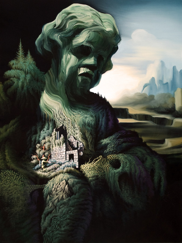 Surreal Paintings Depict the Duality of Man and Nature's ... |Duality Of Man Painting