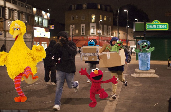 London Looters Get Photoshopped