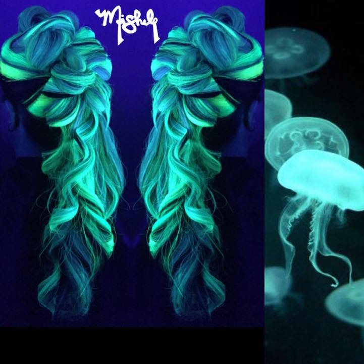 Glow In The Dark Hair Is The Latest Fun Hair Trend To Light Up Your Life