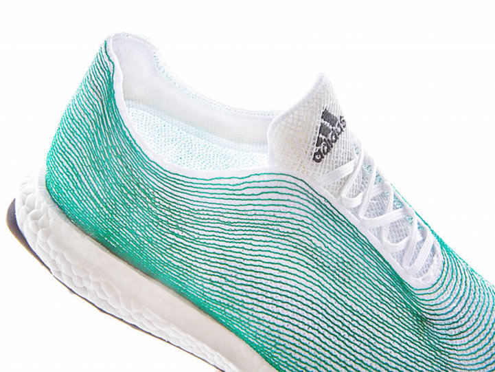 adidas designer shoes made of ocean garbage