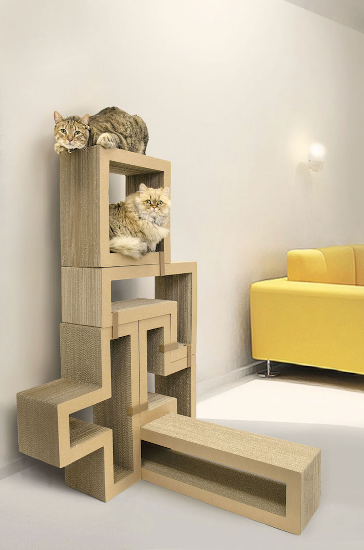 Fun tetris like furniture pieces let you build your own for Design your own cat tree
