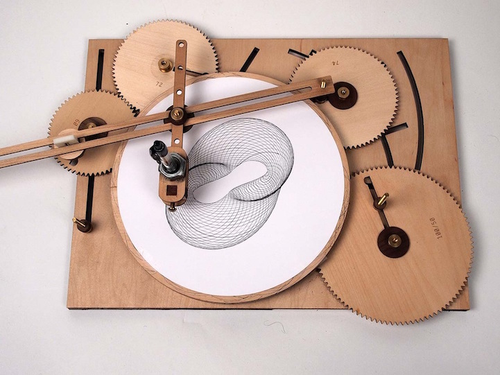 Tremendous Vintage Inspired Wooden Drawing Machine Produces Complex Download Free Architecture Designs Rallybritishbridgeorg