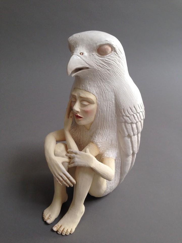 Striking Ceramic Sculptures of Human-Animal Hybrids ...