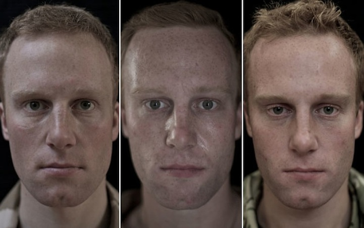 portraits of soldiers before during and after war