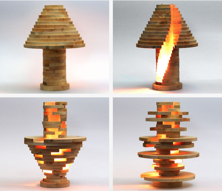 Diy Shape Shifting Lamp Lets You Stack And Build The Lamp Of Your Dreams