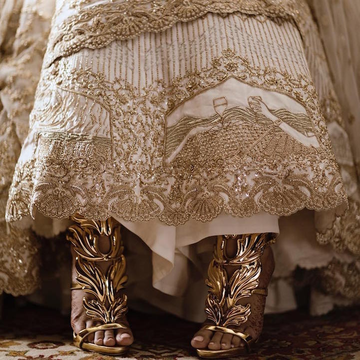 6c553e8fac Bride Embroiders Her Love Story Onto Her Gorgeous Wedding Lehenga
