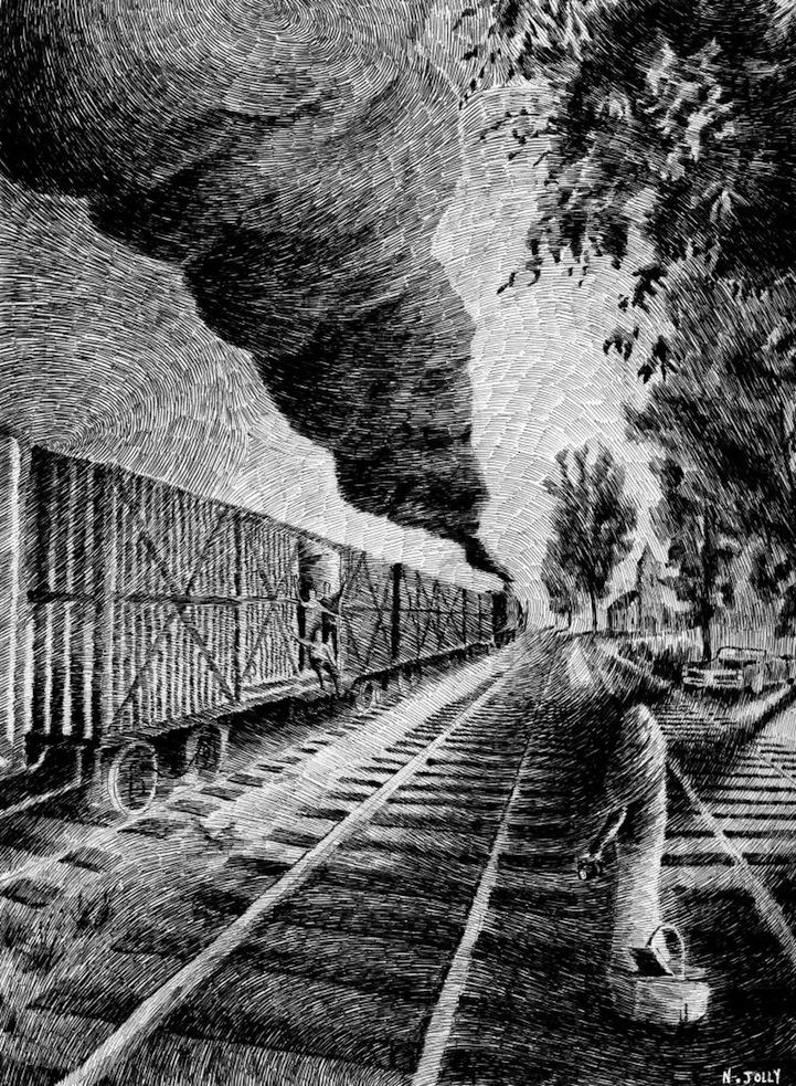 Incredible Fingerprint Drawings by Nicolas Jolly