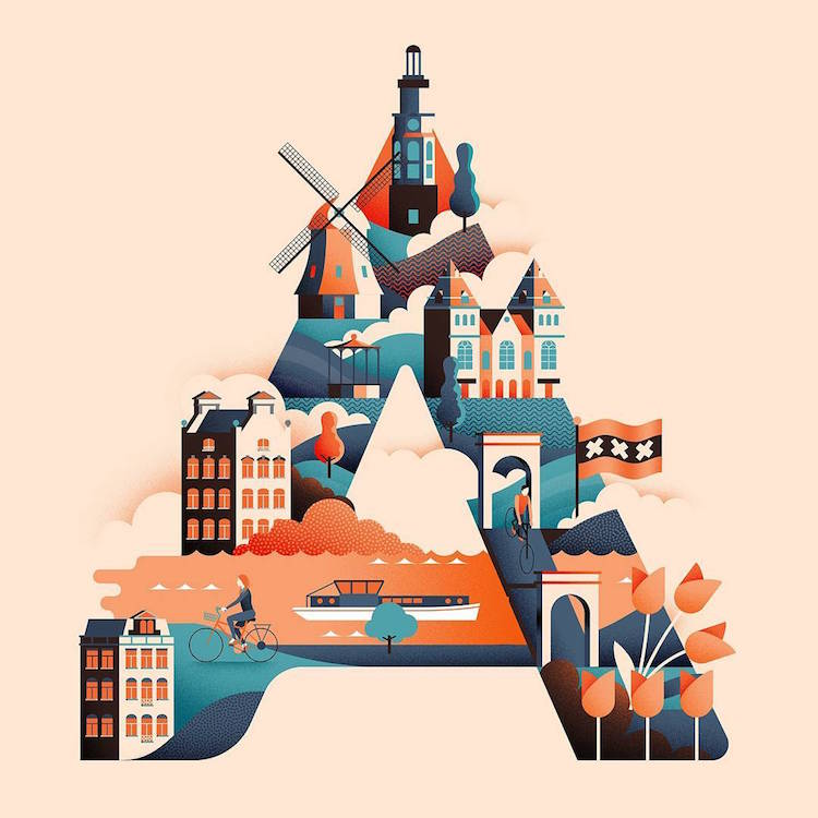 "Wanderlust Alphabet"" Features Travel Highlights of"