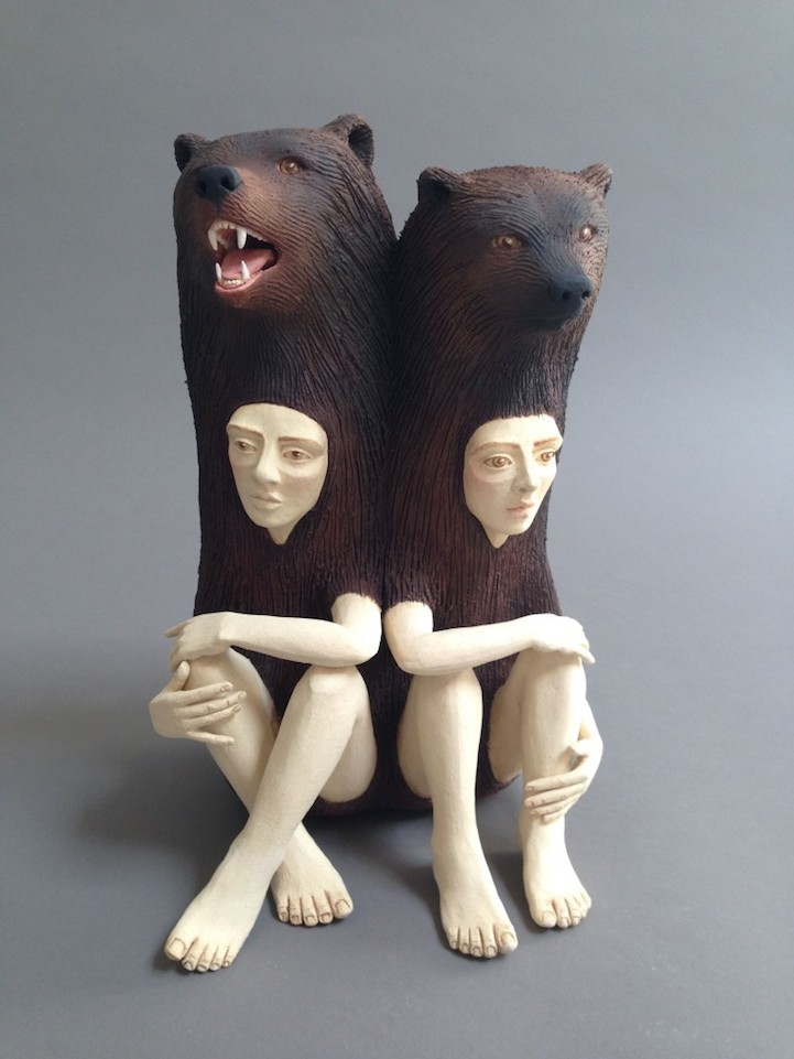 Striking Ceramic Sculptures of Human-Animal Hybrids ...