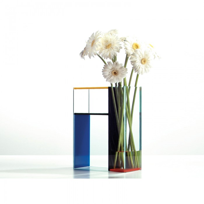 Gorgeous 3 in 1 piet mondrian inspired vase for Mondrian vase