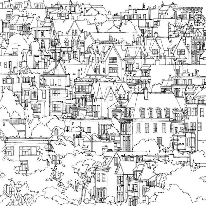 Fantastic Cities: An Exquisite Architectural Coloring Book for ...