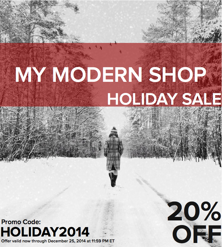 My Modern Shop: Exclusive Holiday Promo Code