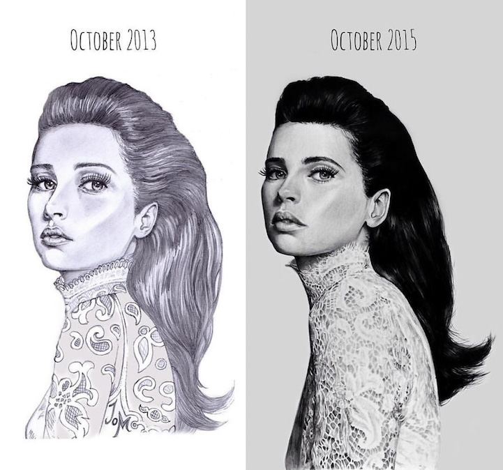 """Artists Share """"Before And After"""" Evolution Of Their"""
