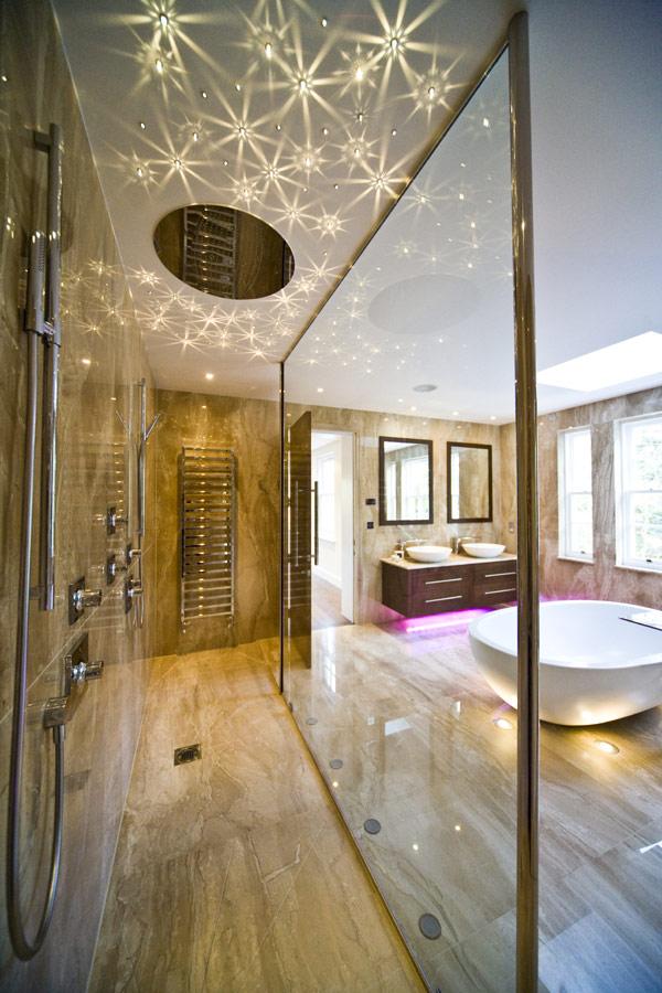 Bathroom Lights Downlights sparkling swarovski downlights in bathroom
