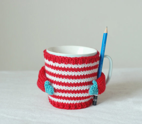 Knitting Pattern For Mug Sweater : Adorably Tiny Hand-Knitted Sweaters Outfit Everyday Coffee ...