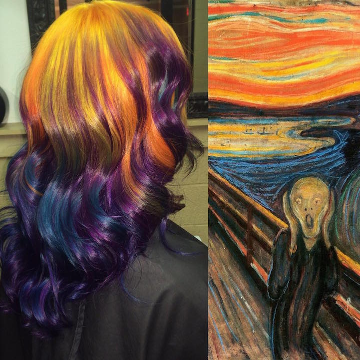 Hairstylist Creates Hair Dyeing Masterpieces Inspired By
