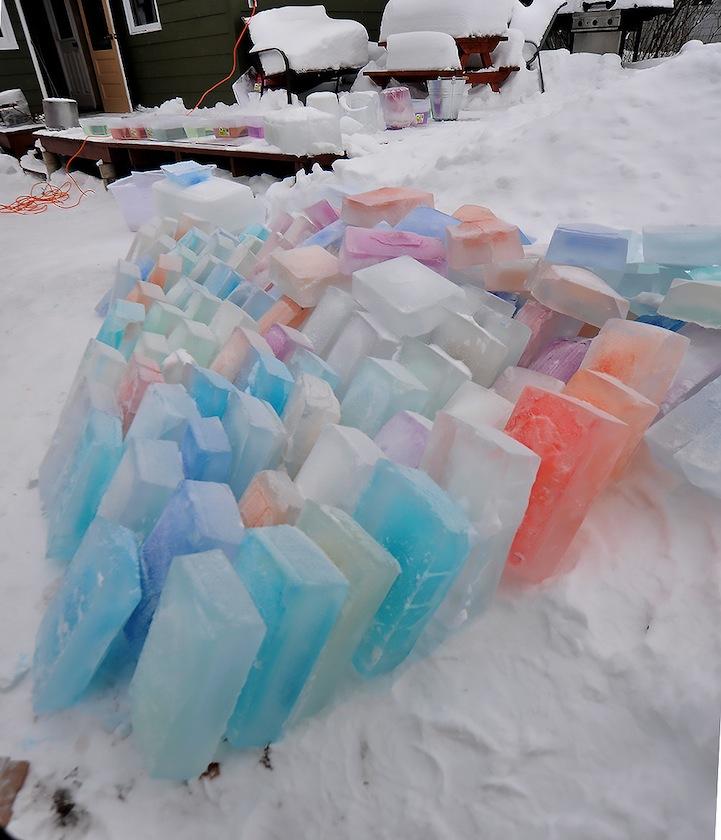 Как сделать лёд разноцветный в домашних условиях