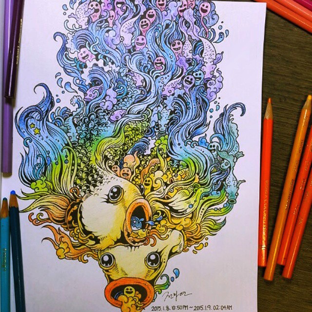 Doodle Invasion The Highly Detailed Coloring Book That