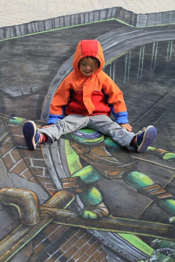 Can ninja turtles street art